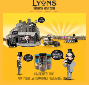 Lyons super British instant coffee website