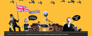 Lyons super British instant coffee branding design