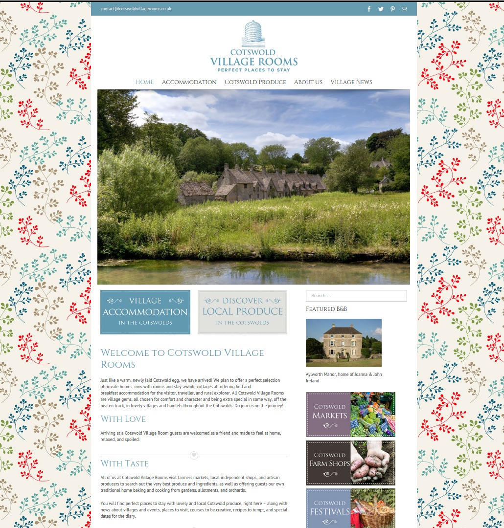 Cotswold Village Rooms Homepage
