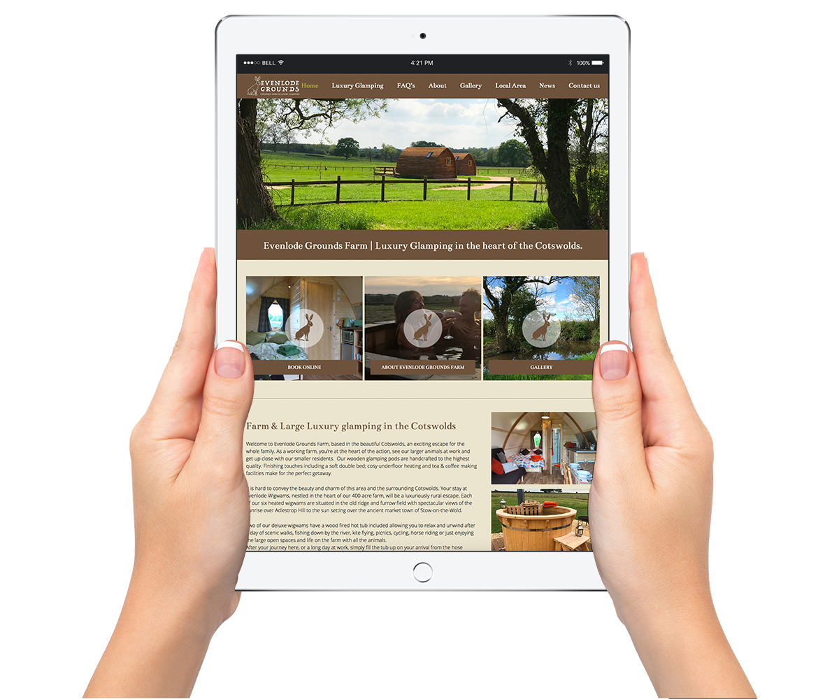 Evenlode Grounds Farm Responsive Web Design