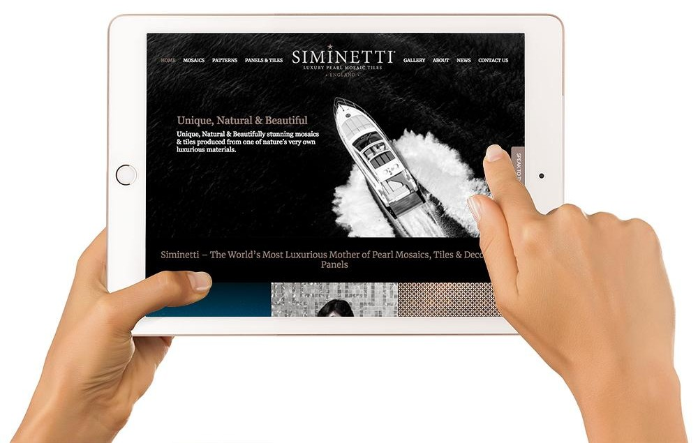 Siminetti website redesign
