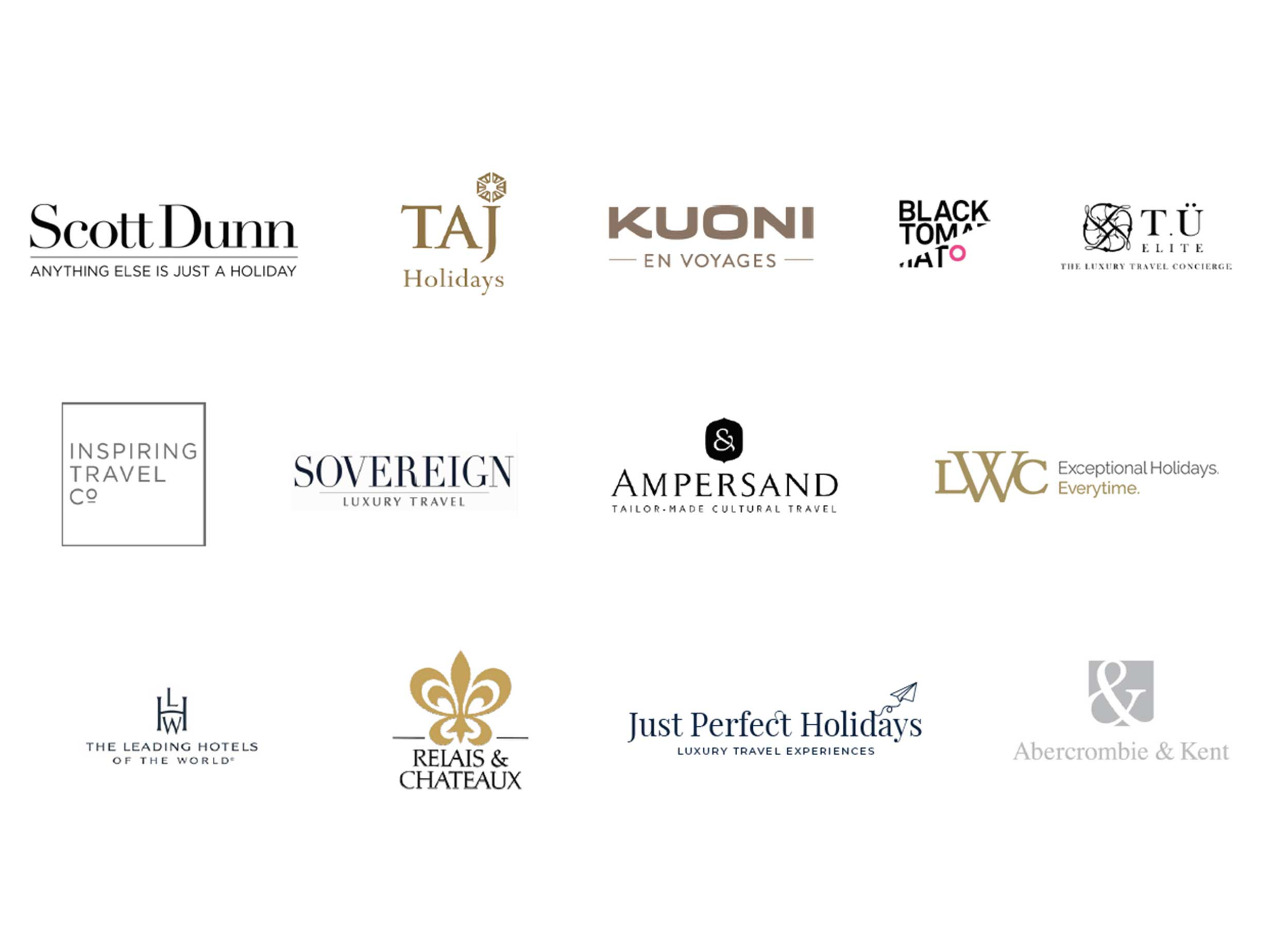 luxury travel branding logos