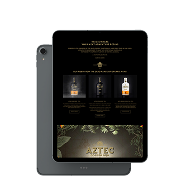 Aztec Rum Medium Screen Website Design