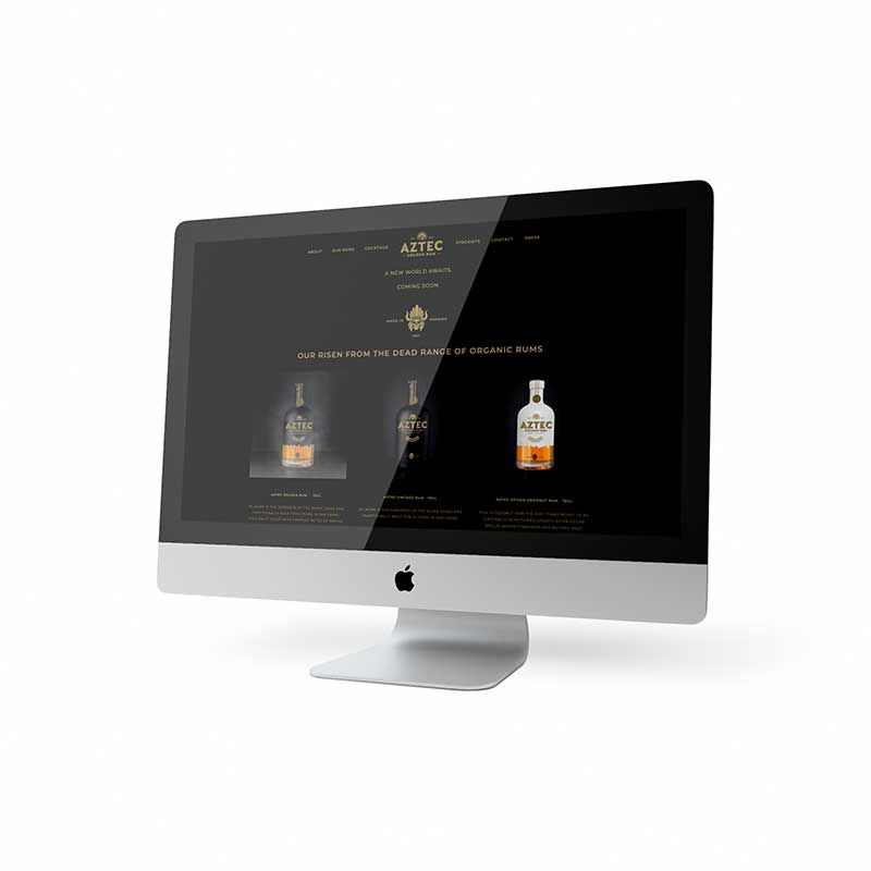Aztec Rum Desktop Website Design
