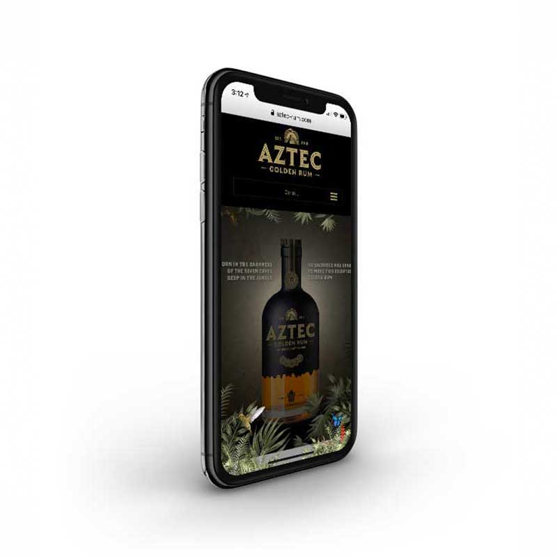 Aztec Rum Mobile First Website Design