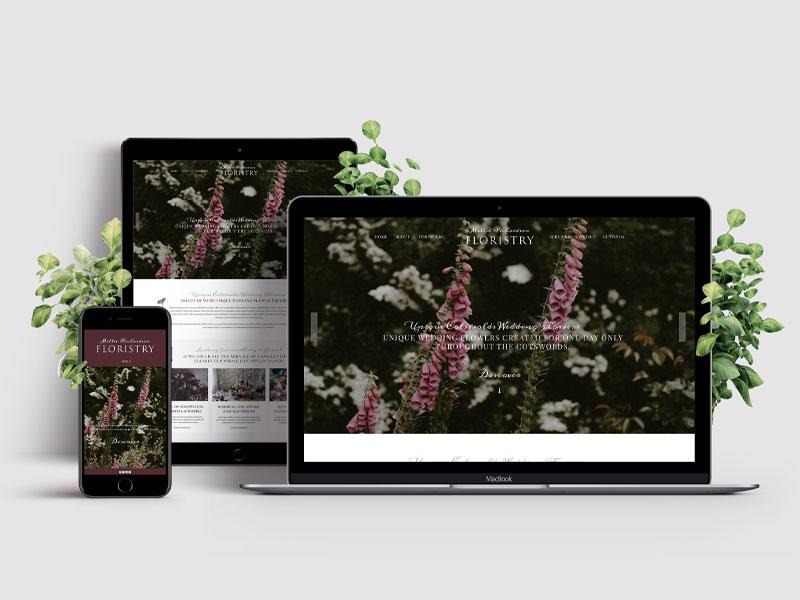 Luxury Florist Website Design Worcestershire - Riley And Thomas
