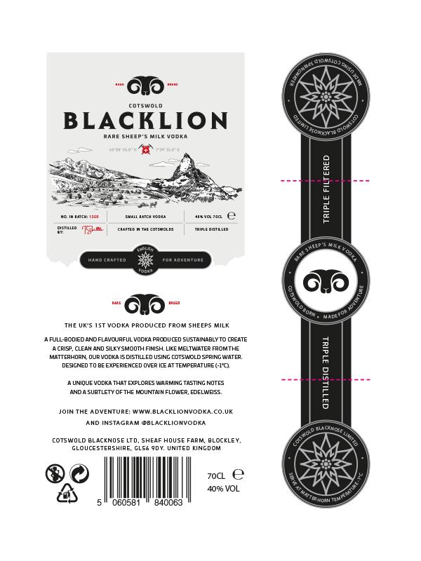 Black Lion Vodka Label Design