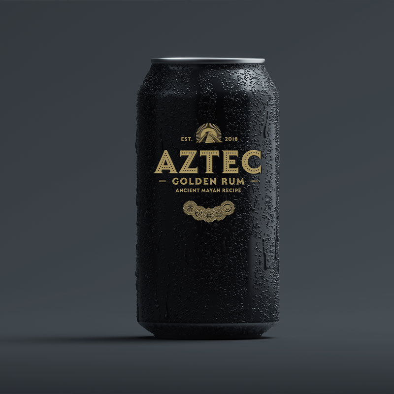 Aztec Gold Rum - Creative Luxury Alcohol Brand