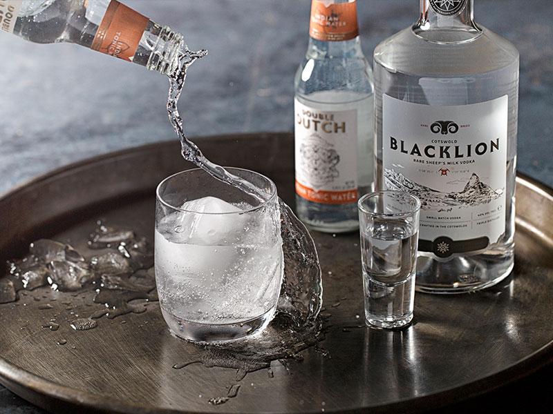 Black Lion Vodka branding